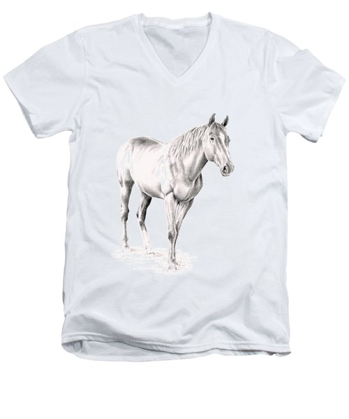 Standing Racehorse Men's V-Neck T-Shirt