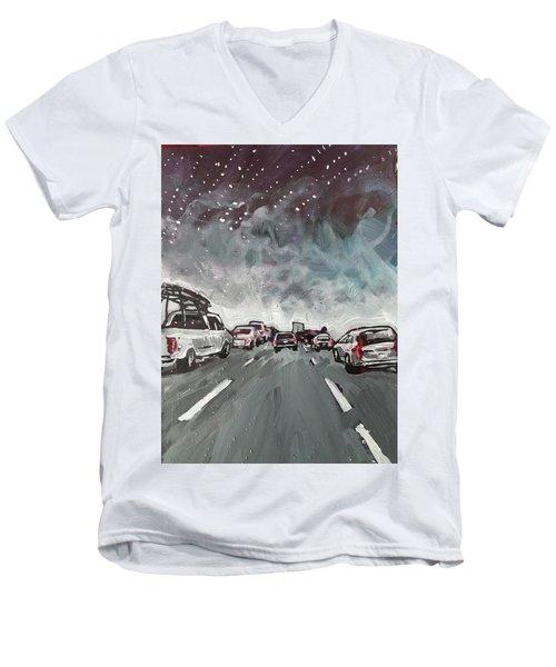 Starry Night Traffic Men's V-Neck T-Shirt