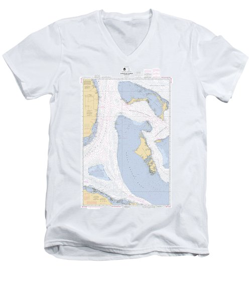 Straits Of Florids, Eastern Part Noaa Chart 4149 Edited. Men's V-Neck T-Shirt