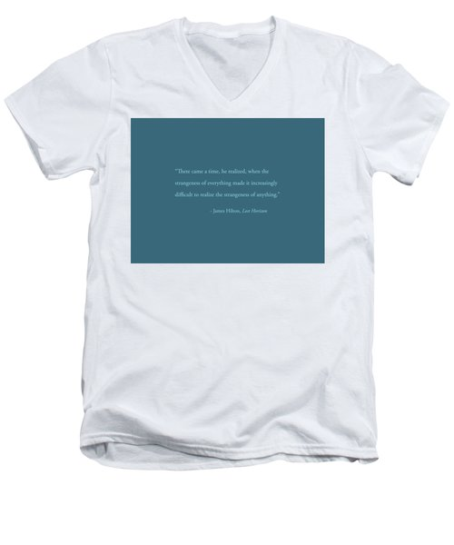 Strangeness Of Anything Men's V-Neck T-Shirt