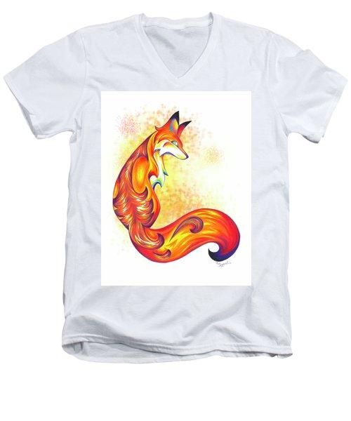 Stylized Fox I Men's V-Neck T-Shirt