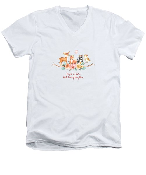 Sugar 'n Spice And Everything Nice Men's V-Neck T-Shirt