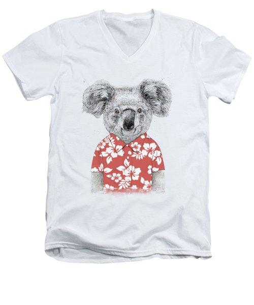 Summer Koala Men's V-Neck T-Shirt