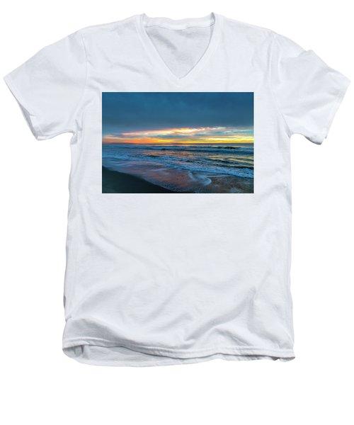 Sunset Fire Over Catalina Island 2 Men's V-Neck T-Shirt