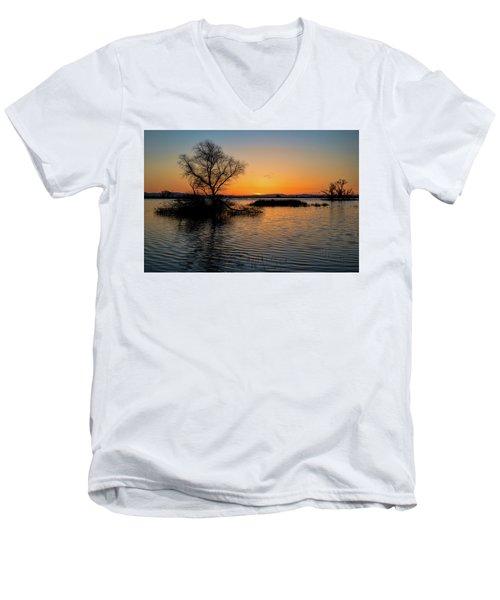 Sunset In The Refuge Men's V-Neck T-Shirt