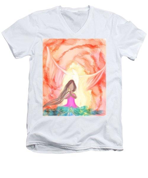 Sweet Hour Of Prayer Men's V-Neck T-Shirt