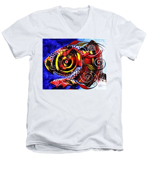 Swollen, Red Cavity Fish Men's V-Neck T-Shirt