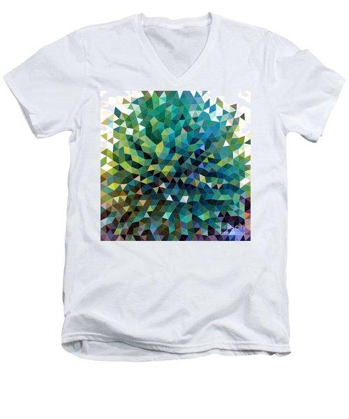 Synchronicity Of Color Men's V-Neck T-Shirt