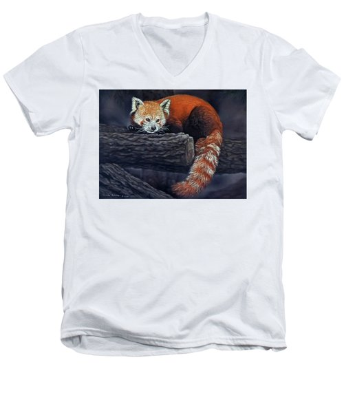 Takeo, The Red Panda Men's V-Neck T-Shirt