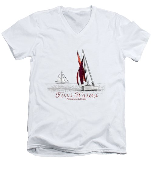 Terri Waters Photography And Design Logo Men's V-Neck T-Shirt