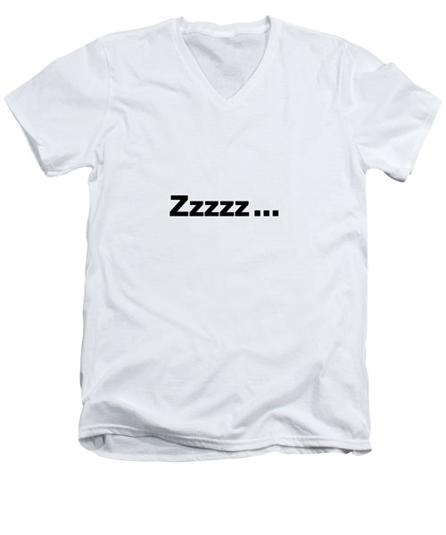 Text Zzzzz  On A Product -  Dth312 Men's V-Neck T-Shirt
