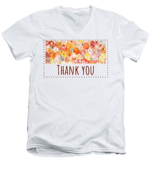 Thank You #2 Men's V-Neck T-Shirt