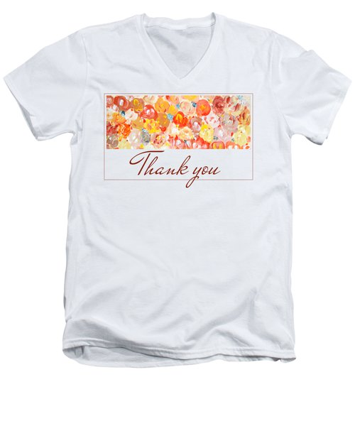 Thank You #3 Men's V-Neck T-Shirt