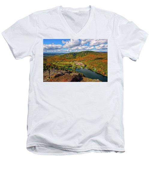 The Balsams Resort Autumn. Men's V-Neck T-Shirt