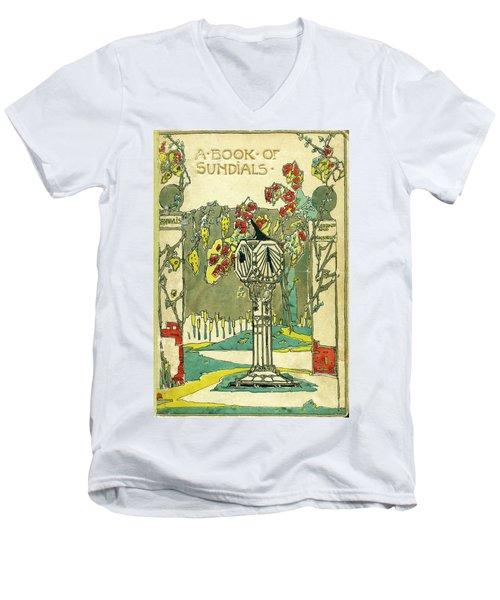 Cover Design For The Book Of Old Sundials Men's V-Neck T-Shirt