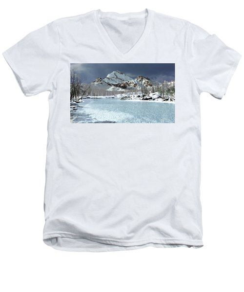 The Courtship Of Ice Men's V-Neck T-Shirt