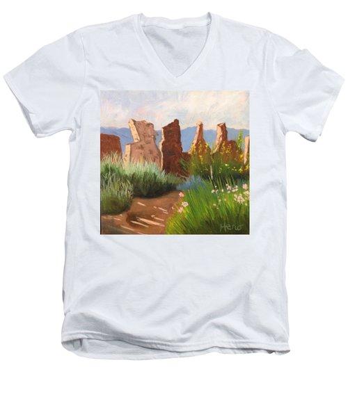 The Courtyard Men's V-Neck T-Shirt