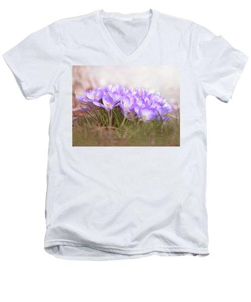 The Earth Blooms 2 Men's V-Neck T-Shirt