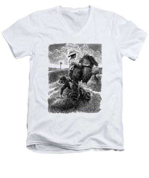 The Harvesters - Bw Men's V-Neck T-Shirt