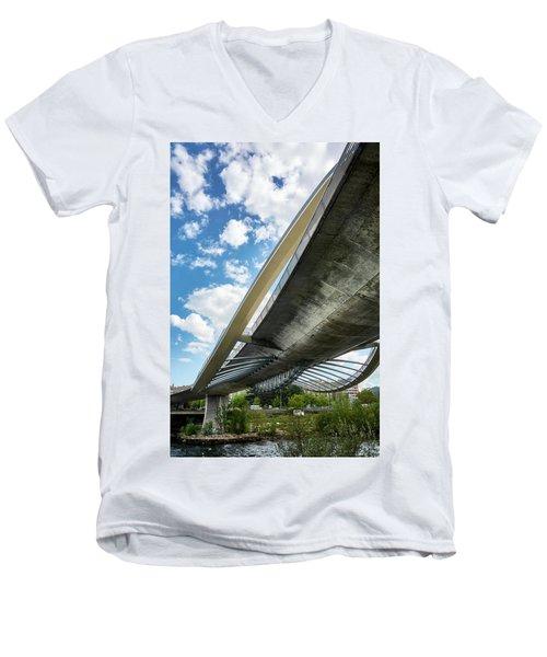 The Millennium Bridge From Below Men's V-Neck T-Shirt