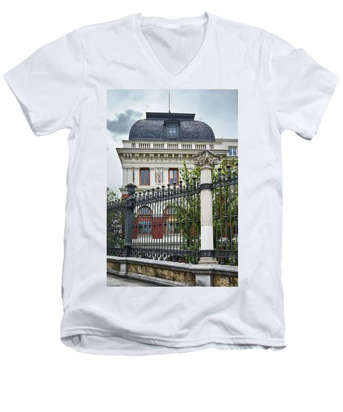 Men's V-Neck T-Shirt featuring the photograph The Ministry Of Agriculture, Fisheries, Food And Environment In Madrid by Eduardo Jose Accorinti