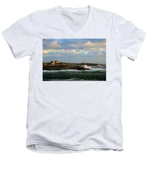 The Peggy's Cove Seascape Men's V-Neck T-Shirt