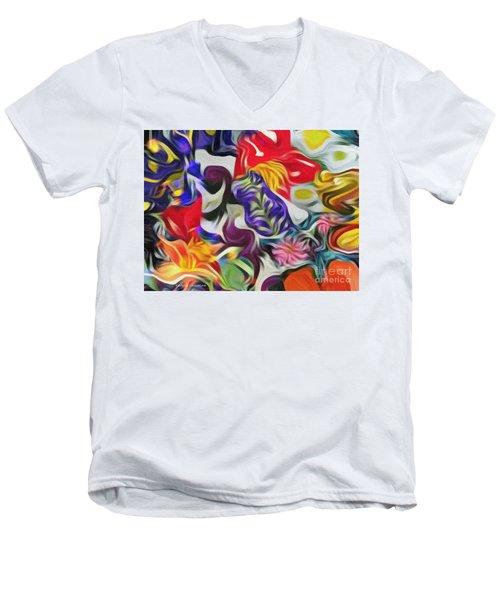 The Power Of Flowers Men's V-Neck T-Shirt