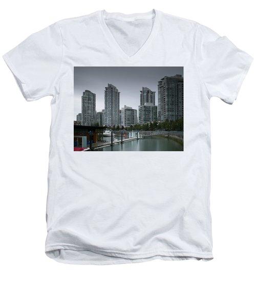 The Quayside Marina - Yaletown Apartments Vancouver Men's V-Neck T-Shirt