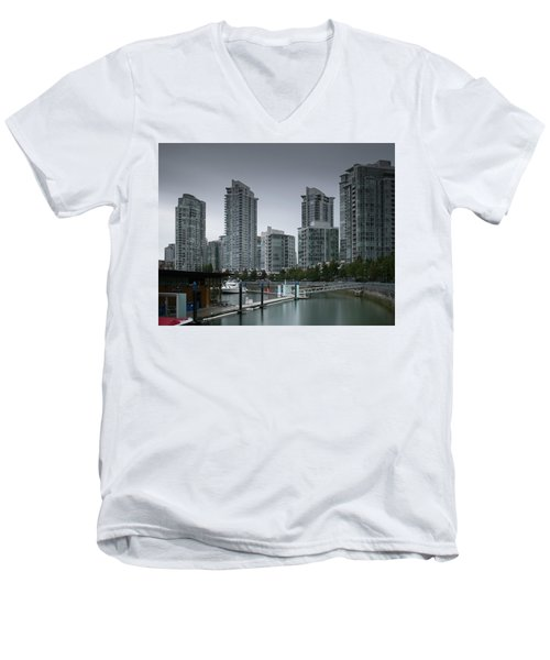 The Quayside Marina - Yaletown Apartments Vancouver Men's V-Neck T-Shirt