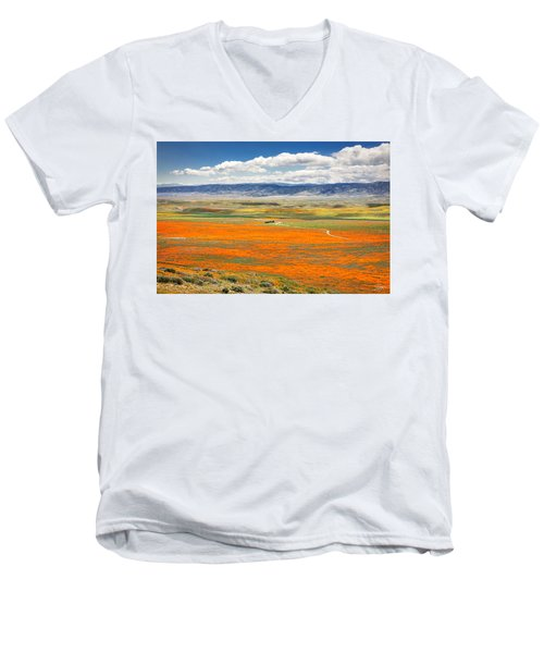 The Road Through The Poppies 2 Men's V-Neck T-Shirt
