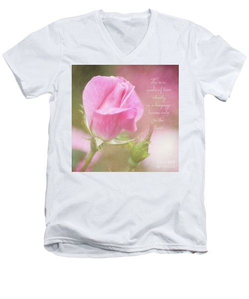 The Rose Speaks Of Love Photograph Men's V-Neck T-Shirt