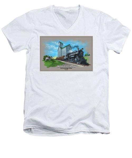 The Ross Elevator Sentinel Of The Plains Men's V-Neck T-Shirt