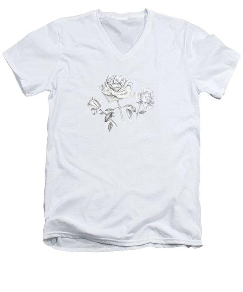 Three Roses Men's V-Neck T-Shirt