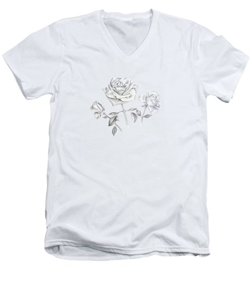 Three Roses Men's V-Neck T-Shirt