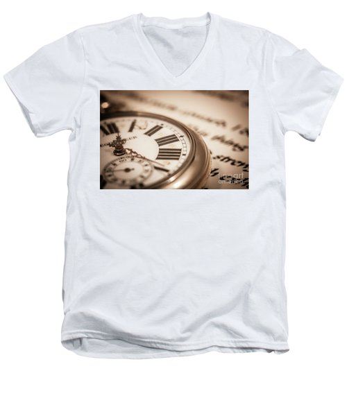 Time And Words Men's V-Neck T-Shirt
