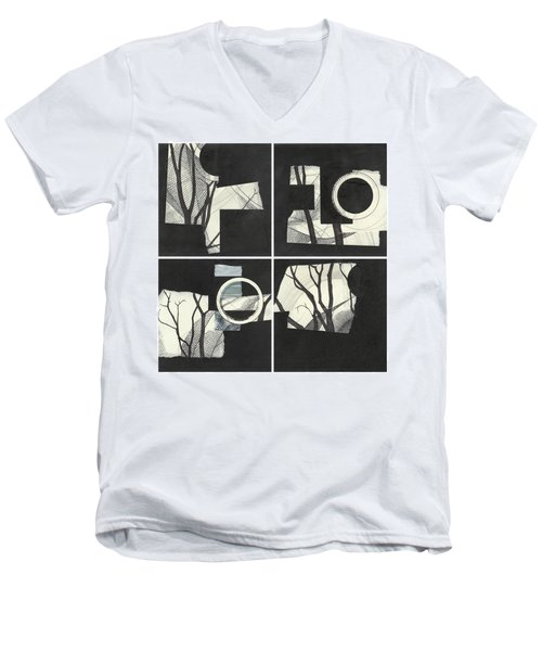 Torn Beauty No. 3 Men's V-Neck T-Shirt