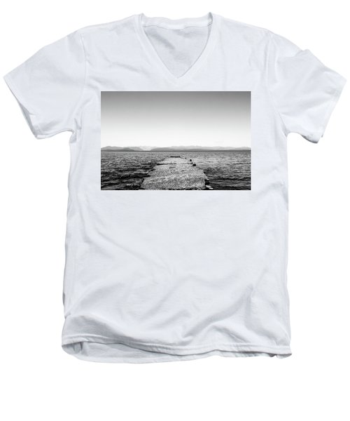 Men's V-Neck T-Shirt featuring the photograph Towards The Nahuel Huapi Lake by Eduardo Jose Accorinti