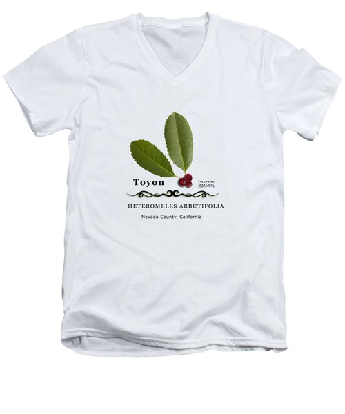 Toyon Christmas Berry Men's V-Neck T-Shirt