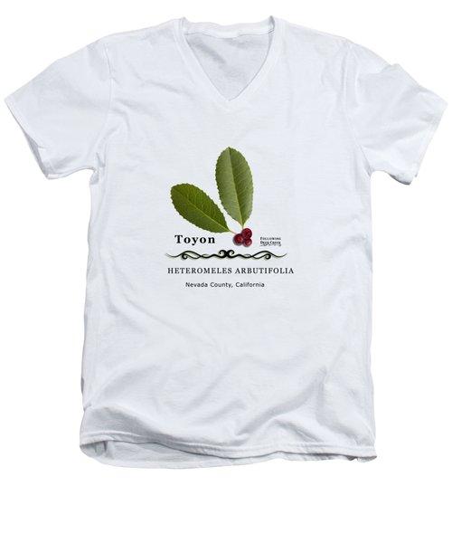 Toyon Christmas Berry Men's V-Neck T-Shirt