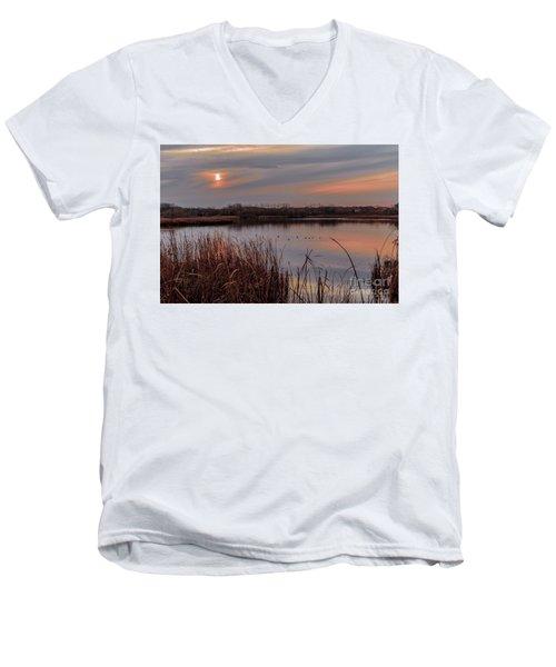 Tranquil Sunset Men's V-Neck T-Shirt