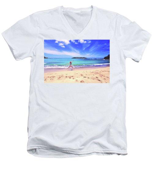Tropical Spring Men's V-Neck T-Shirt