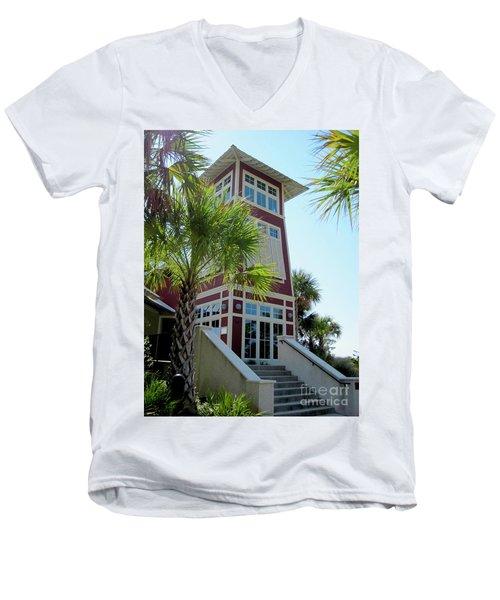 Tropical View Men's V-Neck T-Shirt