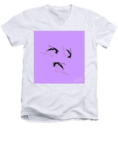 Tumbling Penguins Men's V-Neck T-Shirt