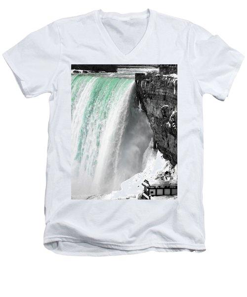 Turquoise Falls Men's V-Neck T-Shirt