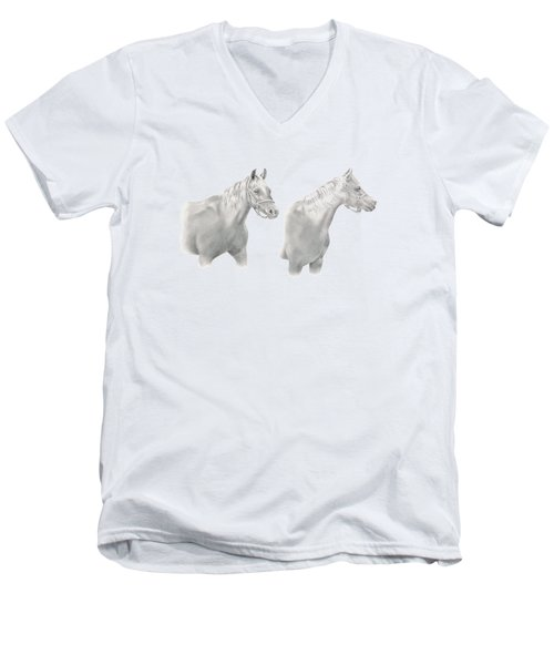 Two Horse Study Men's V-Neck T-Shirt