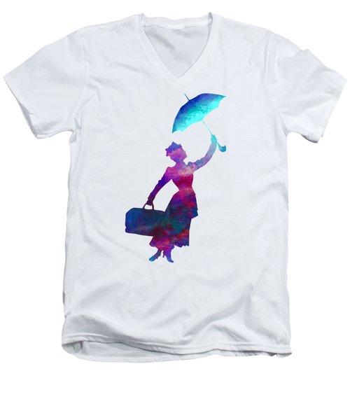 Umbrella Lady Men's V-Neck T-Shirt