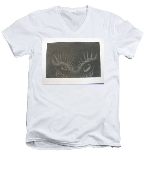 Upper Dragon Face Men's V-Neck T-Shirt
