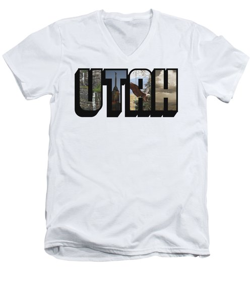 Utah Big Letter Men's V-Neck T-Shirt