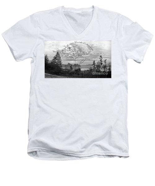 View Of Boston Harbor Men's V-Neck T-Shirt
