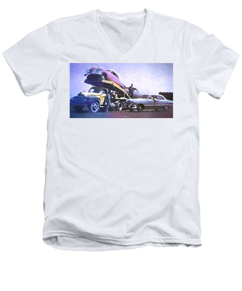 Vintage Ford Car Carrier Men's V-Neck T-Shirt